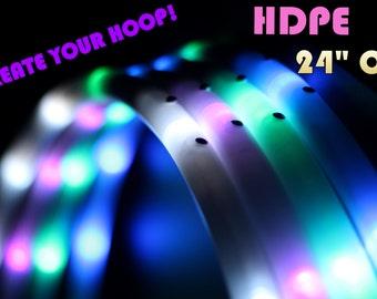 """LED Hula Hoop - HDPE 24"""" Outer Diameter - Create Your Own Hoop! By HoopNerd"""