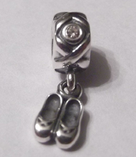 pandora dancer s shoes ballet slippers pink cz by