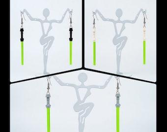 Star Wars Lego Earrings - Lightsaber Green