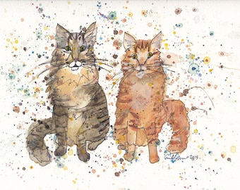 Maine Coon Cats PRINT