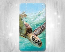 Ocean Sea Turtle Gadget Personalized Tech Gift Usb Portable External Battery Charger Pack for Cell Phone Power Bank