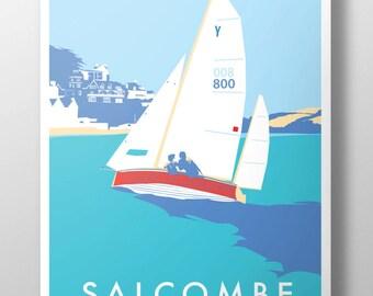 Salcombe Yawl poster print