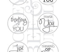 Digital Stamp - Instant Download - Sentiments - Best Wishes - COMMERCIAL USE