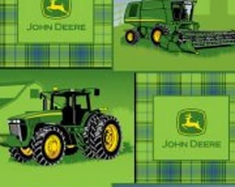 Personalized John Deere Tractor Fleece Baby/Toddler blanket - Custom Name and Color