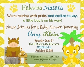 lion king invitation  etsy, invitation samples