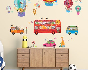 Decowall, DA-1610, Animal Bus and Transport Wall Stickers
