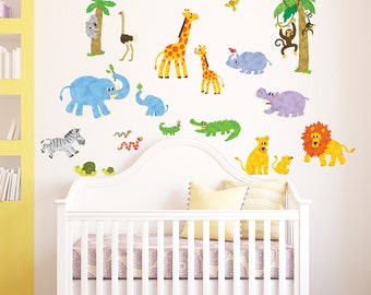 Decowall,DW-1513,Jungle Animals Wall Stickers