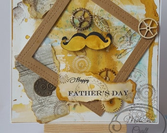 Uniqe Happy Father's day handmade card with love