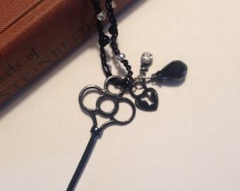 Black Key Long Necklace
