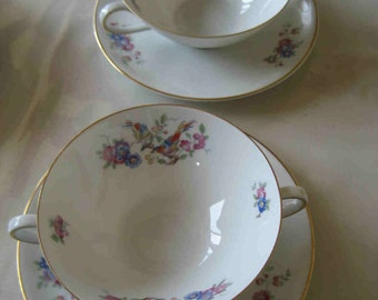 Cream Soup Cups and Saucers