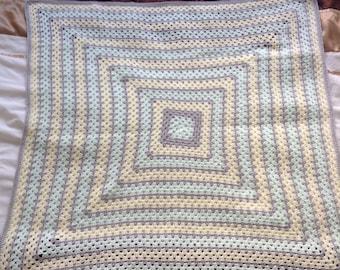Granny baby blanket 4 ply