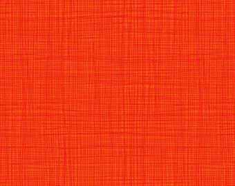 Linea Tonal Grenadine Rust Burnt Orange Russet Texture Coordinate Quilting Filler Cotton Fabric by Makower