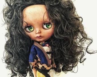 Paloma Custom commission ~ don't buy ~ tanned blythe doll ~ custom doll ~ ooak ~ fashion doll ~ big eyes.