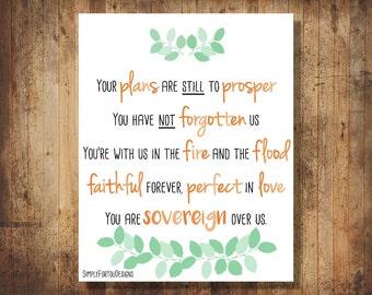 You are Sovereign Over Us Print -- Christian Song Lyrics - Michael W Smith Lyrics - Christian Song Printable