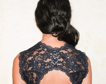 Lace bolero wedding dress bridal lace top navy blue bolero lace shrug lace bolero jacket evening bolero shrug bolero jacket shrug bolero