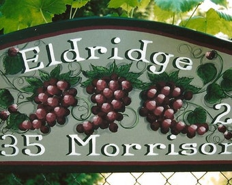 Grape & Ivy Handpainted Sign for Interior and Exterior