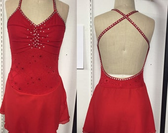 Adult XS red skating dress