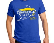 Cracker State Flying Mullets T-Shirt Bill Maher Real Time Funny Parody College Humor Gag Novelty Gift