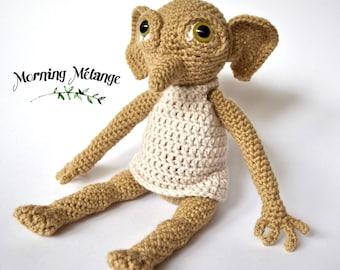 Dobby Amigurumi, Dobby Crochet, Collectible, Harry Potter