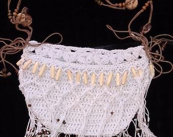 Elegant BOHO \ hippy style crochet bag