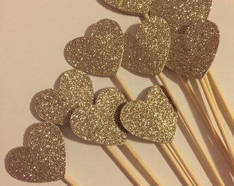 Glitter Heart Party Skewers - Donut Hole Skewers - Fruit Skewers
