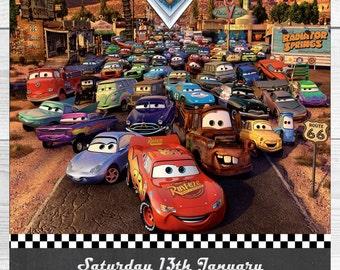 Disney Cars Invitation for Birthday Party - DIY PRINTABLE