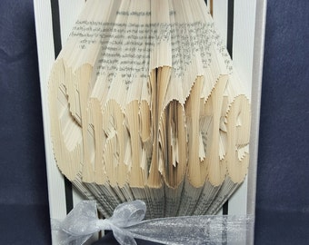 Personalised-Custom Any Word/Name folded book art...friend,couple,mum,dad,birthday,christmas,anniversary,wedding gift