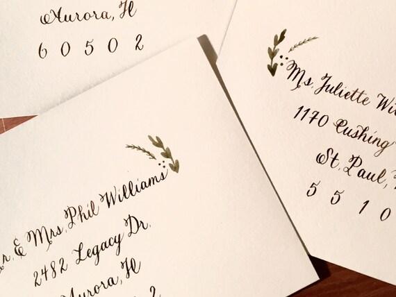 THE RUSTIC SCRIPT | Wedding Envelope Calligraphy | Custom Wedding Invitation Calligraphy | Calligraphy Wedding Envelope Addressing