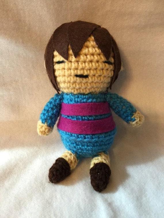 Amigurumi Undertale : Crochet Frisk from Undertale Amigurumi Plush