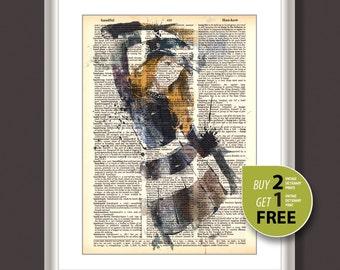 Vintage dictionary print, Vintage fashion art print, Fashion Illustration, fashion art, fashion wall art, Vogue art print, Home decor, 3726
