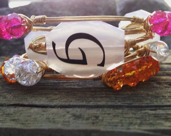 Monogrammed wire bangles