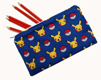 Pikachu and Pokemon Ball Pencil Case.  Great stocking filler or geeky gift idea for lovers of retro computer gaming.