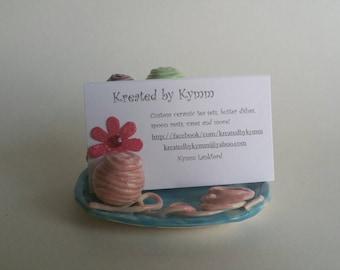 Yarn Business Card Holder, Crochet Business Card Holder, Yarn Shop, Knitting  Business Card Holder, Business Card Display