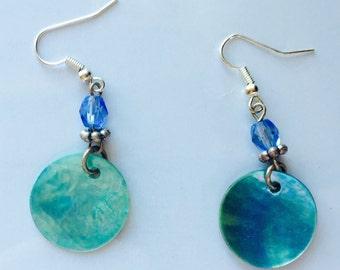 Medium Aqua Coloured Earrings
