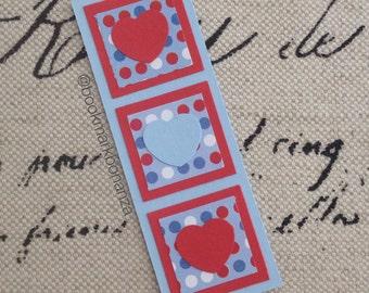 Polka Heart Bookmark