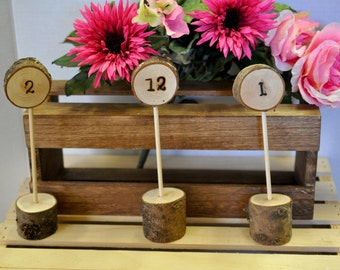 Table Numbers, Wedding, Woodland Table Numbers, Wood Table Numbers, Wedding Table Numbers, Rustic Wedding Table Numbers, Wood Burned Numbers