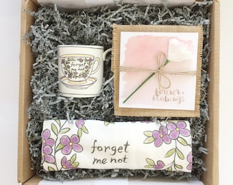 Loss Gift Box, Forget Me Not Gift Box, sympathy gift basket, sympathy, in loving memory, baby loss, infant loss, miscarriage, stillborn