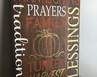 Thanksgiving Wood Sign - Fall Decor - Thanksgiving Home Decor - Holiday Decor - Rustic Fall Decor - Fall Wood Sign