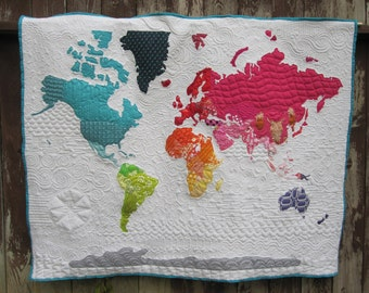 World Map Quilt Pattern