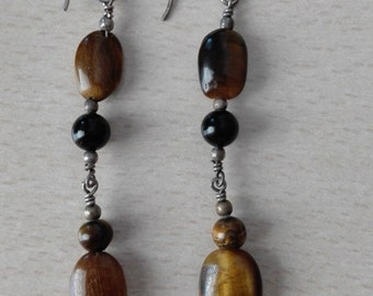 Long beaded earrings - Free international Shipping