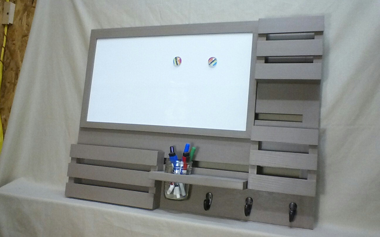 Magnetic Dry Erase Board Mail Organizer Message Center
