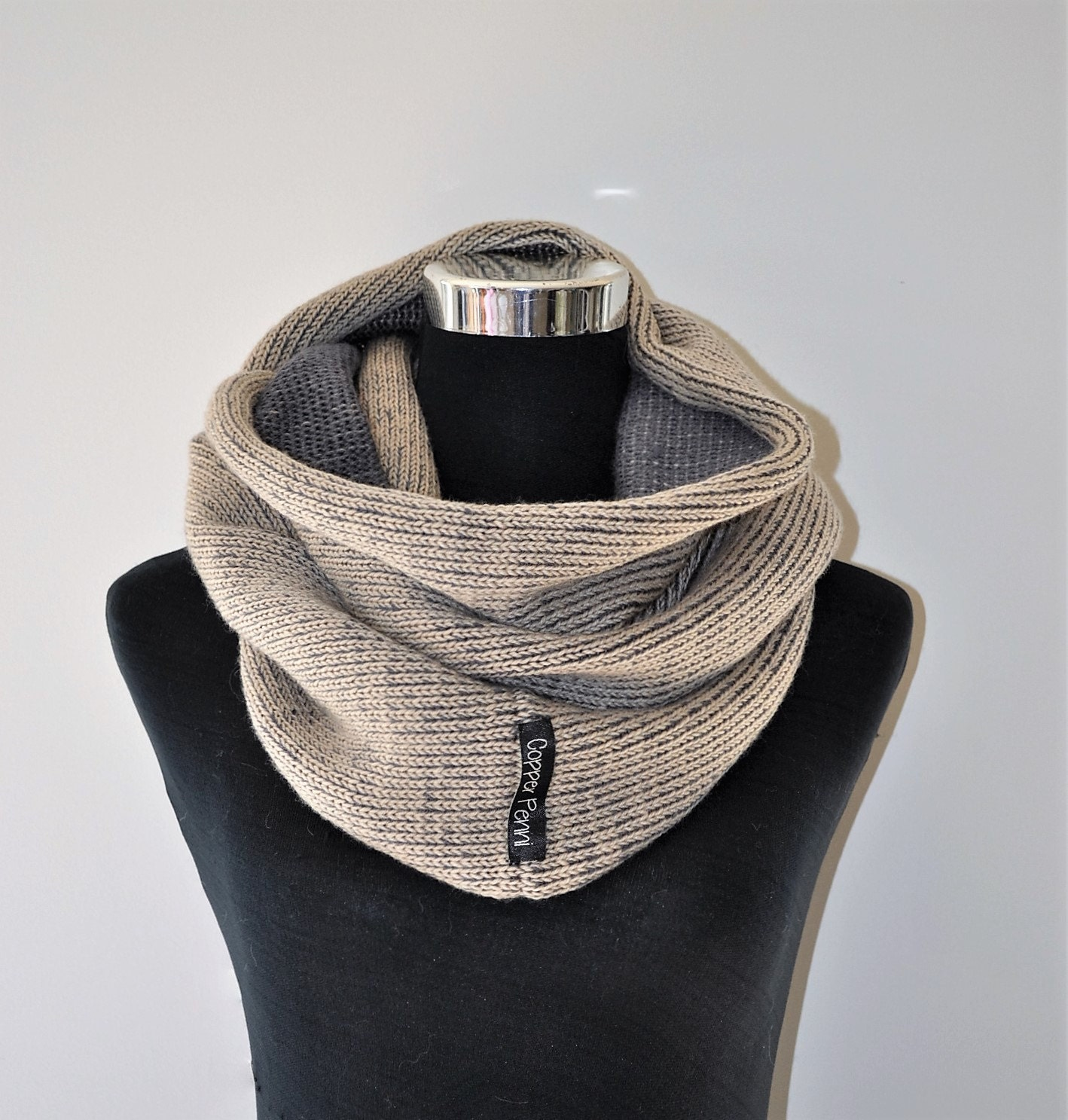 Knitting Mens Scarves : Mens scarf knit gift hand