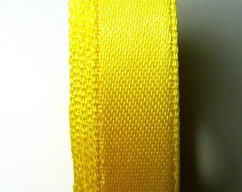 30 meters Satin ribbon 6mm yellow