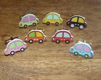 Wooden Car Cufflinks, Wooden Cufflink, wood cufflink, Car Cufflinks, colourful cufflinks