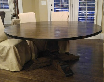"Round 72"" Pedestal Dining Table"