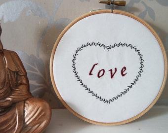 """Embroidery Hoop """"Love"""""""