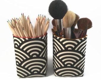 Makeup brush holder, Pencil Holder, Brush holder, Pen holder, Desk accessories, Makeup organiser, Makeup storage, Fabric basket, Storage bin