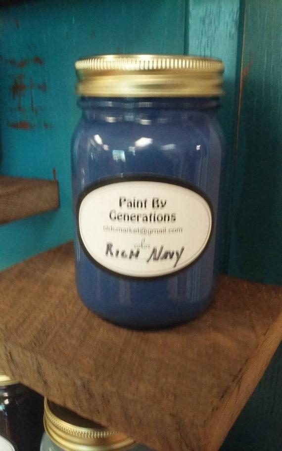 rich navy chalk paint. Black Bedroom Furniture Sets. Home Design Ideas
