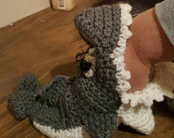 Eaten By a Shark Crochet Slippers