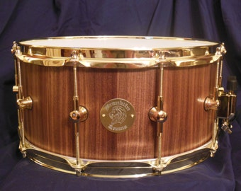 14x6.5 Solid Stave Black Walnut Snare Drum